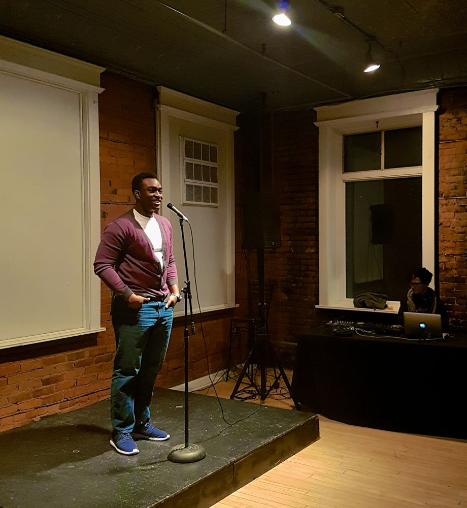 Chukky Ibe at Hamilton Youth Poets Slam at The Spice Factory