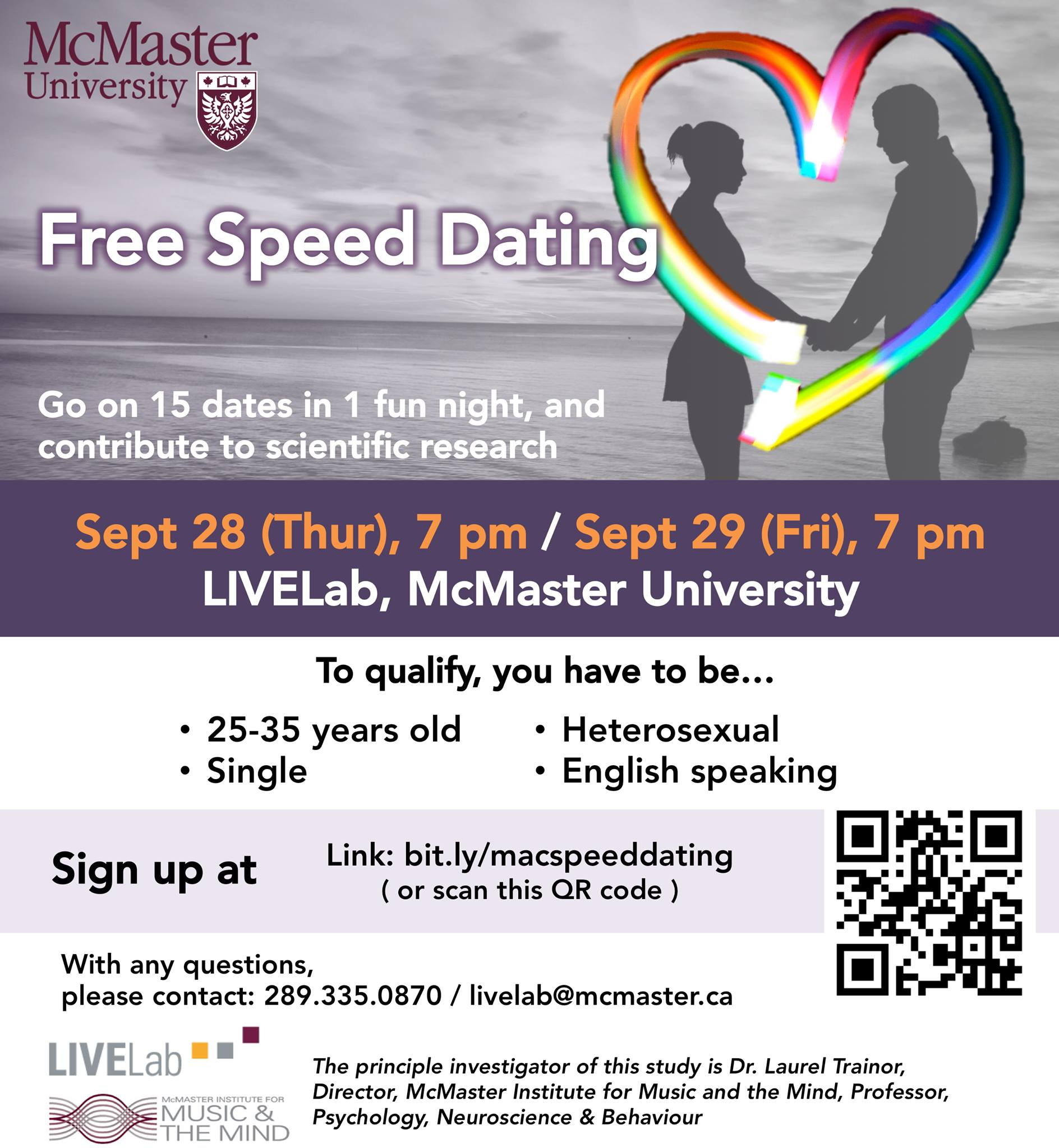 Mcmaster speed dating