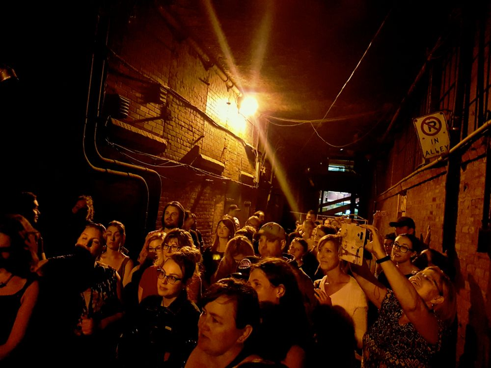 """Jack the Ripper"" alley during Haunted Hamilton ghost tour"