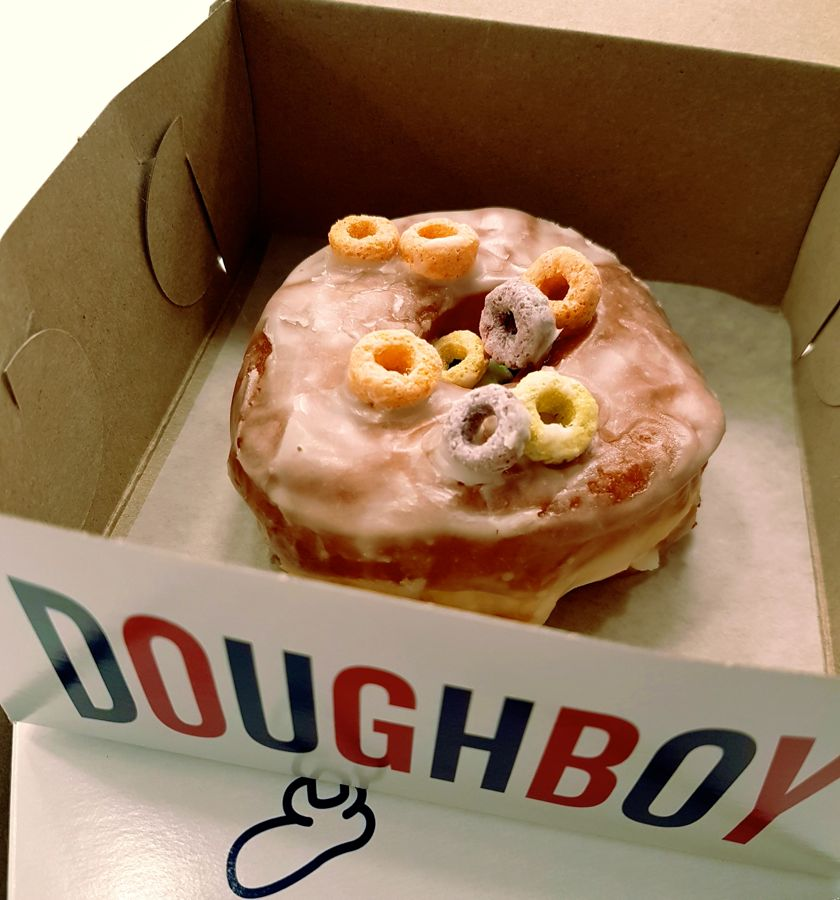 Breakfast Cereal donut from Doughboy Donuts