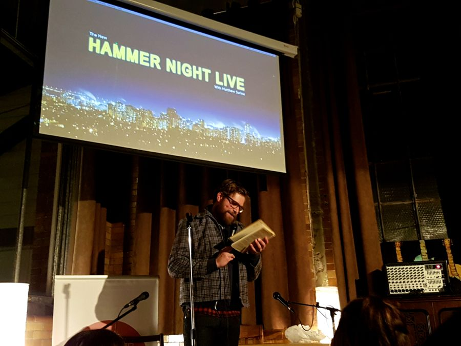 Anthony Mlekuz performing at Hammer Night Live at The Staircase Theatre