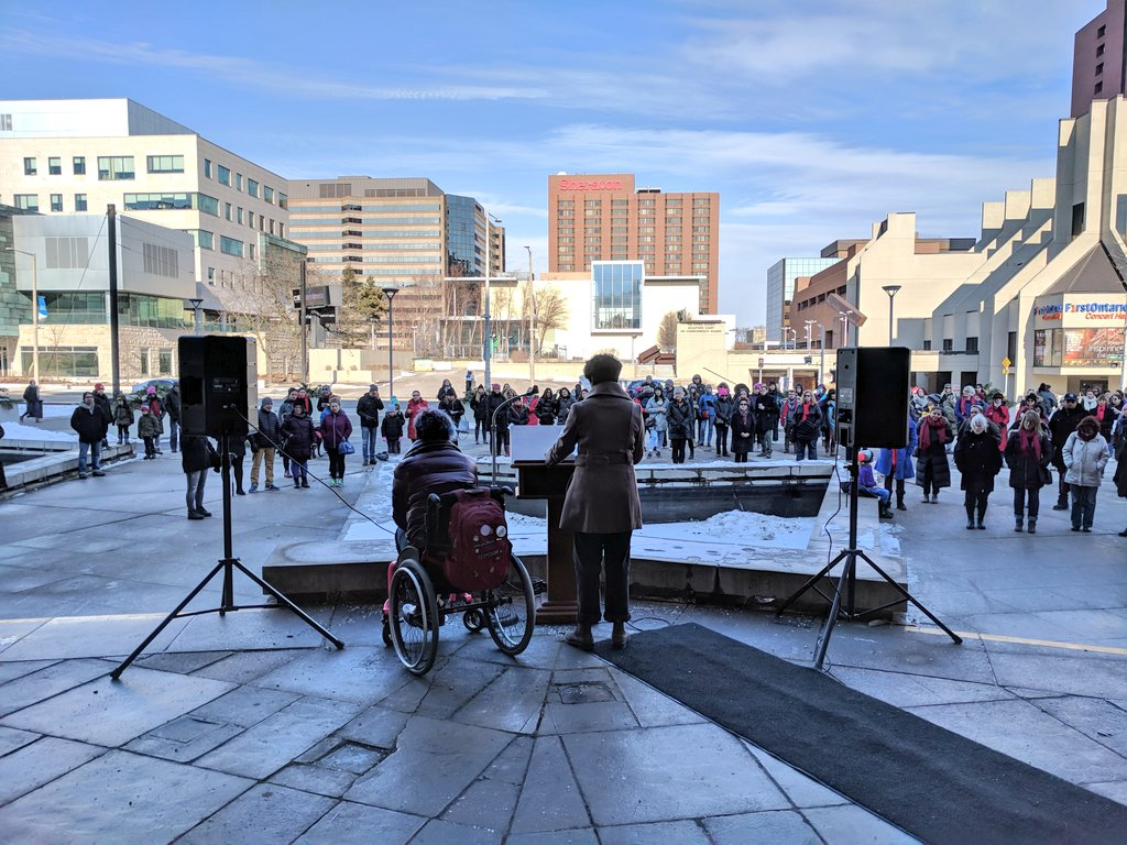 Women's March Forward Summit rally at City Hall. Photo by Suzanne Zandbergen/The Generator