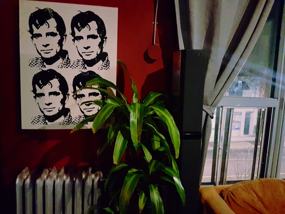 Jack Kerouac art at Halo gifted by Nick Blagona