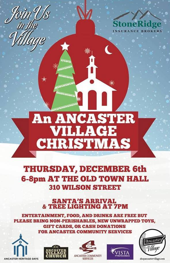 An Ancaster Village Christmas | The Inlet Events Hamilton Ontario