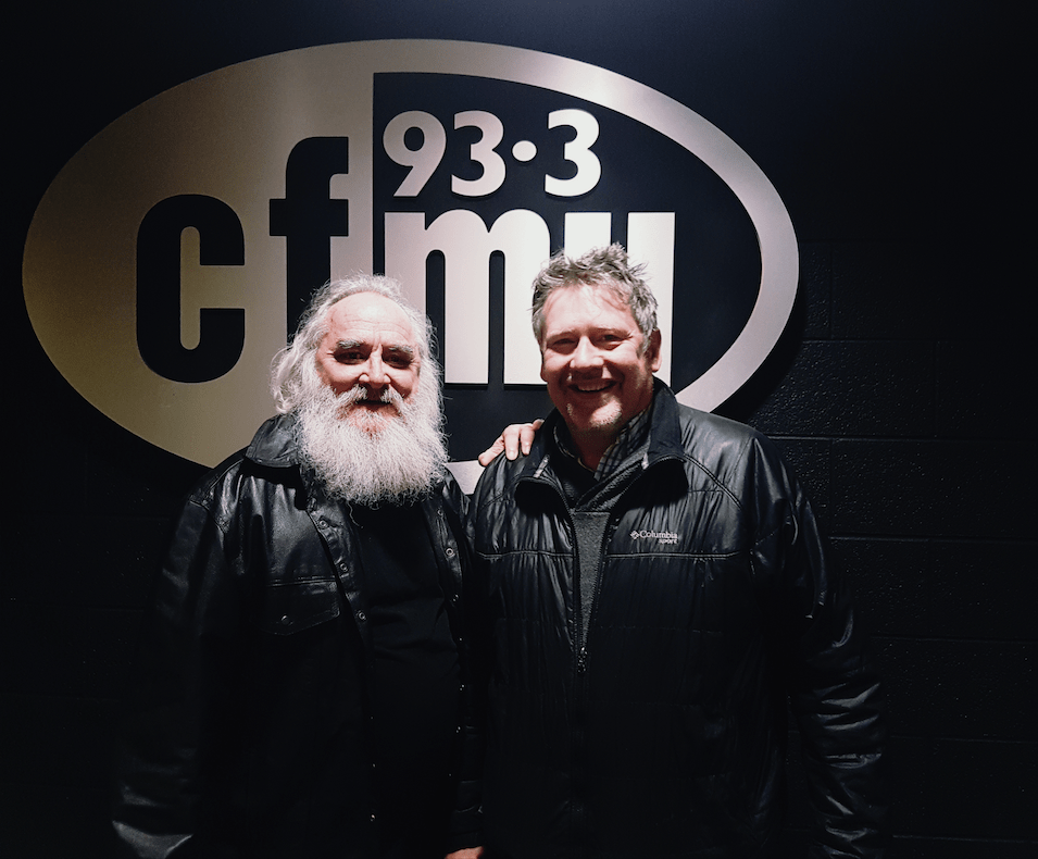 Bob Lanois and Glen Marshall at 93.3 CFMU. Photo by Kristin Archer.