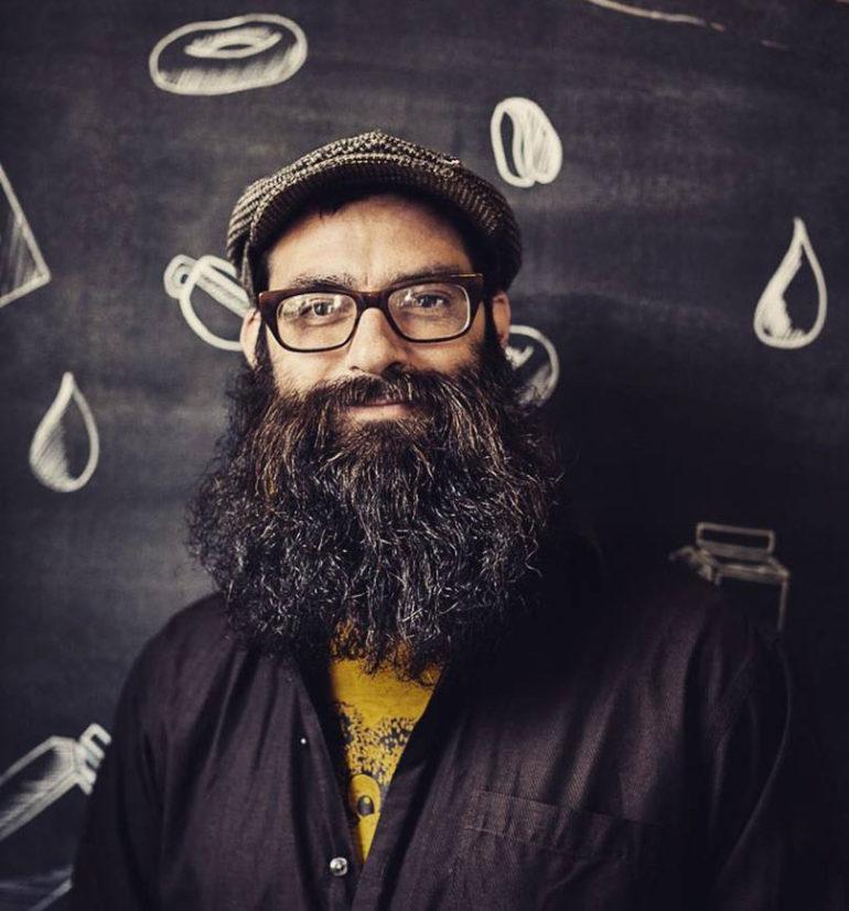 theinletonline | Quilted Portrait | Jeff Fuzzy Mall | Hamilton Artist | Textile Artist |